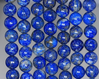 8mm Azura Lapis Lazuli Gemstone A Blue Round 8mm Loose Beads 15.5 inch Full Strand (90147161-258)
