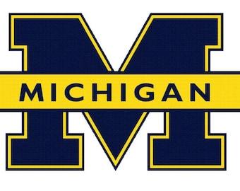 Michigan University Embroidered Iron On Patch