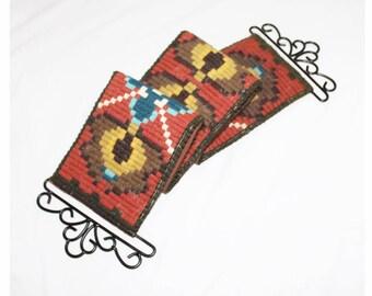 Norwegian wool tapestry bell pull. Norwegian klokkestreng. Scandinavian bell pull