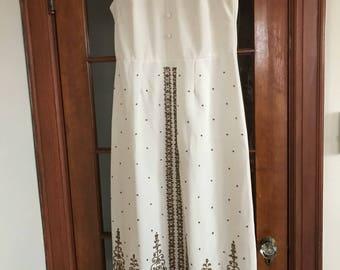 Beaded dress- sleeveless long dress