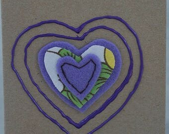 Purple Heart Card Handmade Card