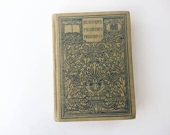 Hardcover Journal, Mixed Paper - Bunyan's Pilgrim's Progress - Small Notebook, Handmade, hard-bound, hardcover
