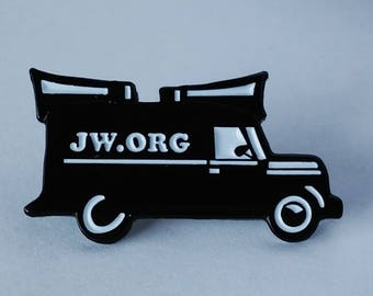 JW.org pin for Jehovah's Witnesses sound car
