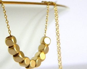 SALE Dainty Gold Nugget Necklace