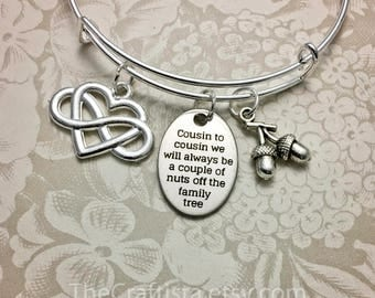 C10C, Cousin Bangle, Cousin Gift, Cousin Bracelet, Cousin Jewelry, Gifts for Cousins, Pinky Promise Charm, Cousin Pendants, Cousin Charms