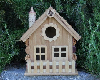 Flower Birdhouse, wine cork art