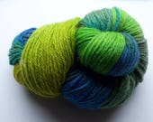 100% Organic Wool Hand dyed worsted weight yarn