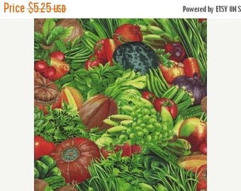 ON SALE Fresh Picked by Moda, Vegetable Fabric, Garden Fabric, 1/2 yard Fabric, 05003