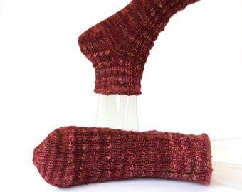 Slipper Socks, Women Men, Cozy Slippers, Hand Knit Slippers, Boho Knit Slipper Socks, Ankle Slipper Socks, Hipster, Hand Knit Slipper Socks