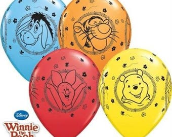 """Winnie the pooh and friends 11"""" Balloons Birthday Party Kids Gift Favours Tableware"""