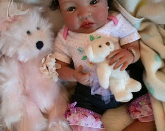 From the Biracial Shyann Kit  Reborn Baby Doll 19 inch Baby Girl Brooklynn Complete Baby Doll