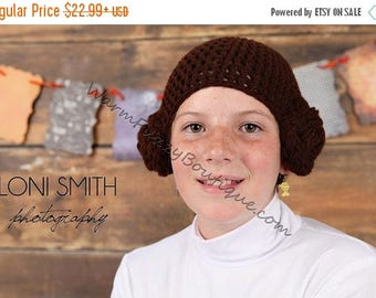 SUMMER SALE Star Wars Inspired Princess Leia Hat - Crochet Newborn Boy Girl Costume Halloween  Photo Prop Christmas Gift Winter Outfit