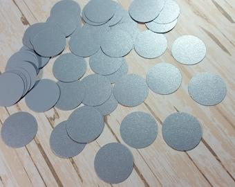 Silver Circle die cut confetti, Paper circle decoration, Wedding confetti, Birthday confetti,  Mix and Match