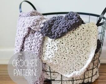 FLASH SALE CROCHET Pattern - oversized blanket - the Stuart Blanket