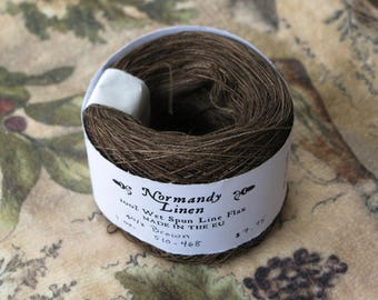 40/2 Brown Normandy Linen Thread