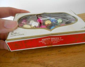 Vintage Shiny Brite miniature bulbs.  Original box.  Made in Japan.