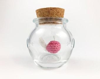Crocheted Zelda Fairy in a Bottle