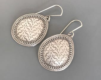 Sterling Silver Psithurism Dangle Earrings, silver jewelry, nature inspired earrings, gift