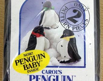 Vintage Penguin Plushee Craft Kit Stuffed Animal Carol's Zoo