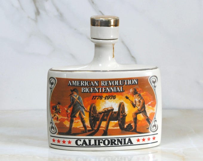 Vintage Early Times Decanter, 1976, California, Limited Edition American Revolution Bicentennial Editon, 1776-1976