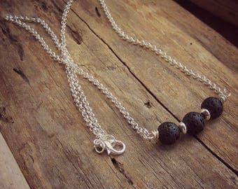 Lava Stone Diffuser Necklace • Lava Stone Jewelry • Essential Oil Necklace • Aromatherapy Jewelry • Lava Bead Necklace • Lava Jewellry