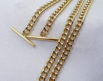 1Piece 7mm wide Brass Purse chain , handles Bag Chain - (T415)
