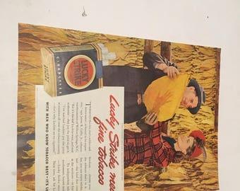 1940s lucky strike tobacco ad lucky strike means fine tobacco