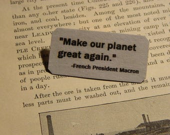Make Our Planet Great Again brooch lapel pin Climate Change #ParisAgreement