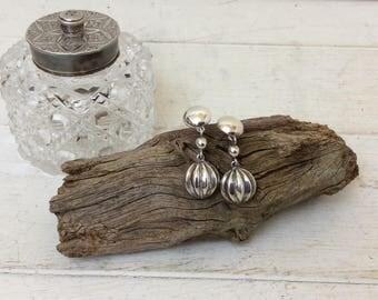 Vintage Silver Earrings~Pair Of Earrings~ 925 Silver~