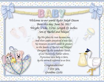 Baby Personalized Gift and Keepsake