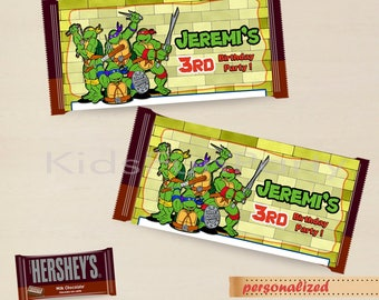 TMNT Favor Bag Toppers  - Party Favor Label Tags  - Personalized - Birthday Party Printable