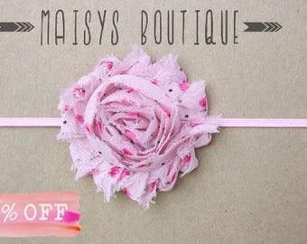 Floral Print Pink Flower Print Pink Flower Headband/ Newborn Headband/ Baby Headband/ Photo Prop/ Spring Print