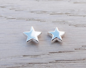 Silver Star Stud Earrings, Sterling Silver