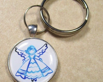 Angel Keychain, Angel Key Fob, Angel Key Ring, Angel Gifts, Angel Key Chain, Angel Keyring, Gifts with Angel, Angel Lover Gifts