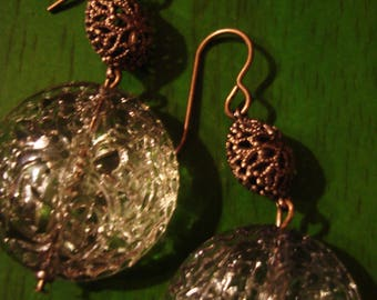 Handcrafted Vintage Boho Gypsy Inspired Faux Crystal Drop Dangle Earrings