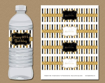 50th birthday party decorations 50th anniversary decorations glitter birthday water bottle labels 50th - 50th Wedding Anniversary Decorations