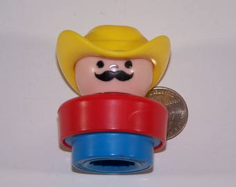 Vintage Fisher Price Chunky Little People Jed The Farmer Loose Replacement Piece
