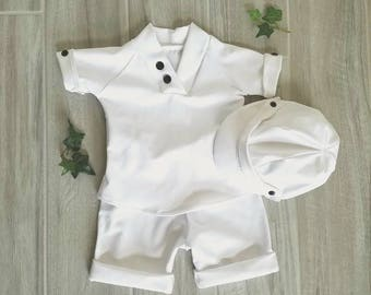 Baby boy baptism outfit, baby boy christening outfit, baby boy blessing outfit, baby boy white suit