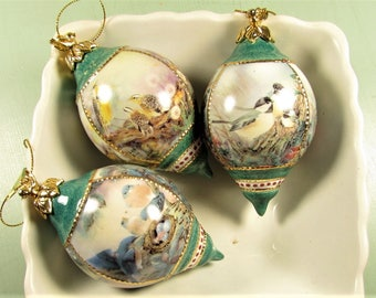 Natures Poetry Ornaments - Lena Liu Porcelain Birds 3rd Issue Bradford Exchange