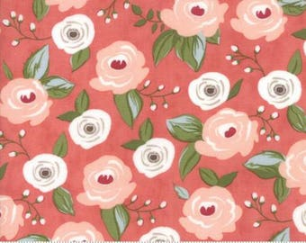 Farmers Daughter Painted Bouquet Pink Lemonade 5050 17 by Lella Boutique for Moda