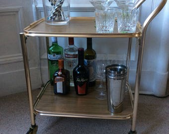 vintage retro drinks trolleybar cart