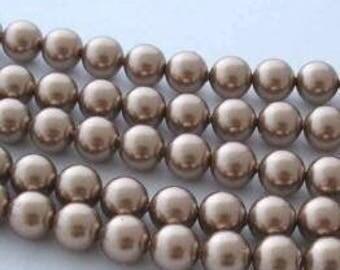 SWAROVSKI Large Hole Crystal Pearl Beads 5811 BRONZE