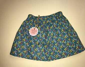SALE - Flowers and Stars Girls Skirt - 4-7yrs. - Ready to  Ship