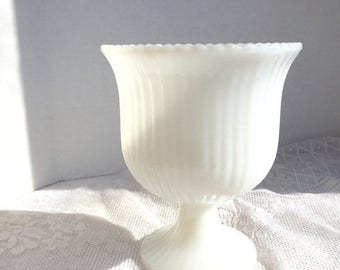 Wedding Sale Home Decor Vintage Milk Glass Vase E.O. Brody Planter Wedding Decor