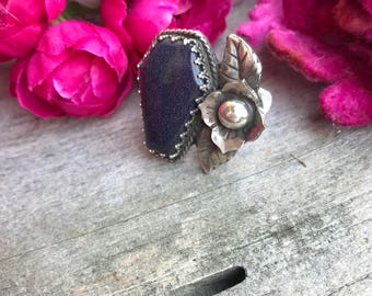 Beloved Ring Blue Goldstone
