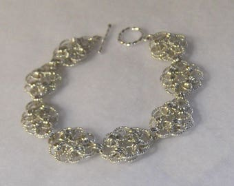 Sterling Silver Celtic Knots Chainmaille Bracelet - CMB6