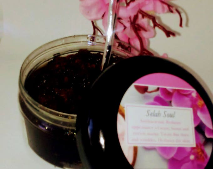 Featured listing image: Selah Soul: Vanilla Brown Sugar Scrub, handmade with organic ingredients