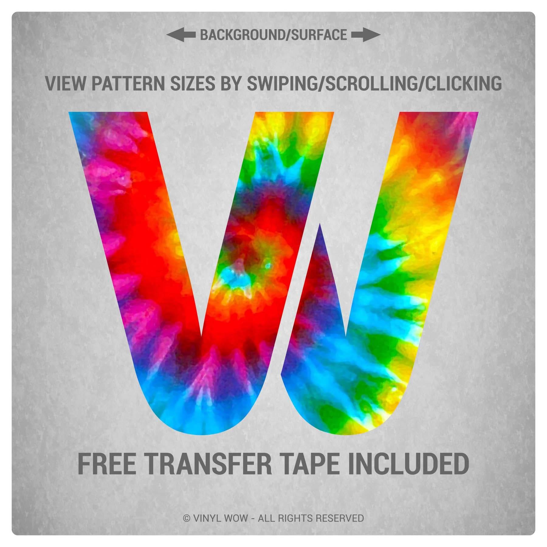 Heat Transfer Vinyl Htv Tie Dye C Custom Printed