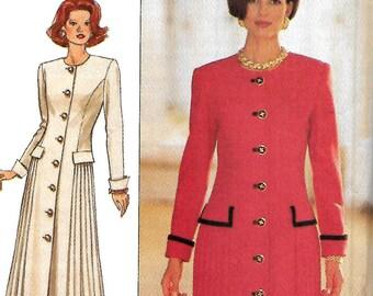Butterick 3138 Richard Warren Misses A-Line Side Front Pleated Dress Pattern, 6-8-10, UNCUT