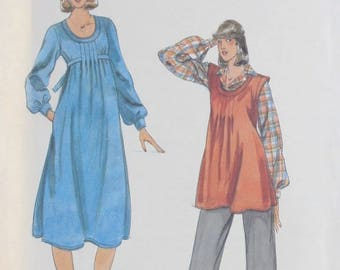 Butterick 5573 Misses Maternity Dress, Top And Pants Pattern, Size 16, UNCUT